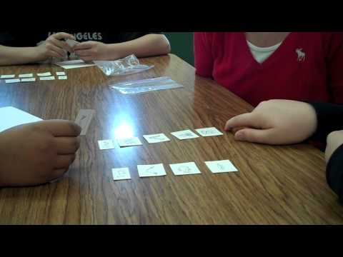 5th grade word work--blind buddy sort