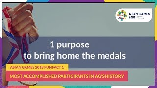 #AsianGames2018 Fun Fact 1 - Most Accomplished Participants in AG's History