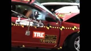 2001 Honda Civic Coupe Vs. 2003 Chevrolet Silverado - Crash Test - IIHS.flv