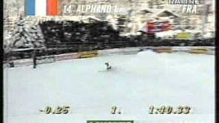 Kitzbuehel 1995 - Horrorsturz Pietro Vitalini + 1. Sieg Luc Alphand