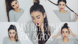 חמש תסרוקות קלות לבית ספר |FIVE EASY HAIRSTYLES FOR SCHOOL |ANGEL | אנג'ל ברנס