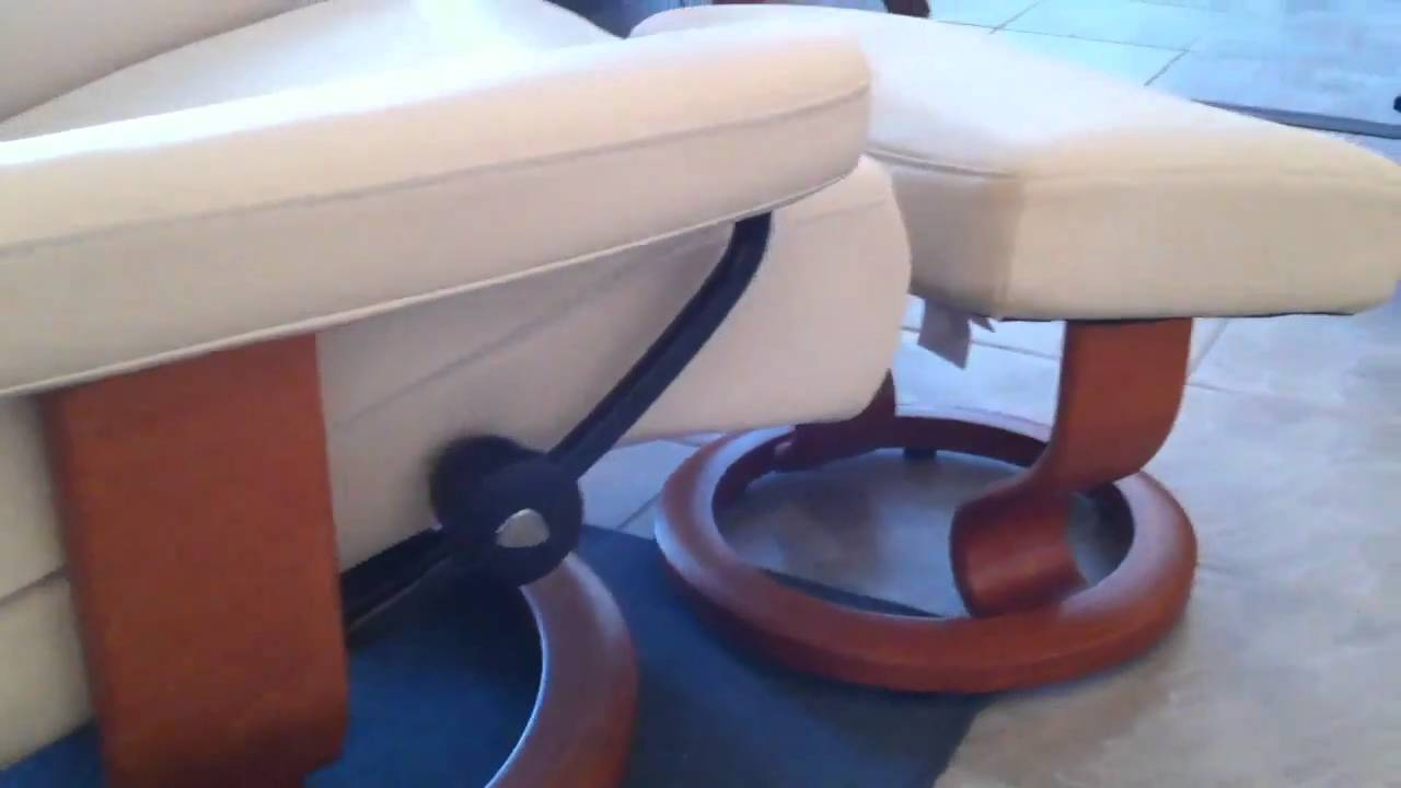 & Ekornes Stressless Taurus Recliner- Cream Batick Leather - YouTube islam-shia.org