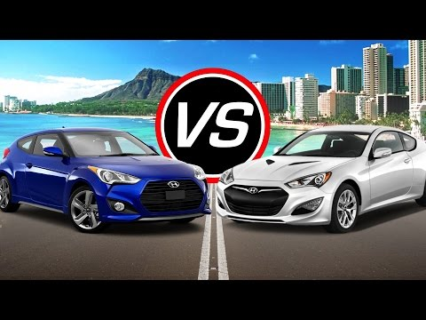 2016 Hyundai Veloster Turbo vs Genesis Coupe Spec Comparison