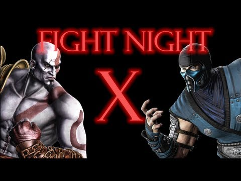 Mortal Kombat 9 - Kratos vs Sub Zero