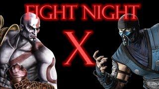 Mortal Kombat 9 - Kratos vs Sub Zero