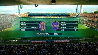 Fútbol en vivo. Rosario Central - Boca. Fecha 30 Primera División 2015. FPT.