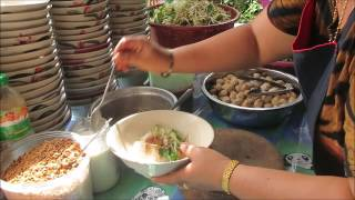 laos noodle on asian street food in laos