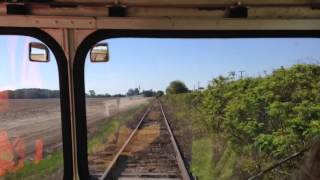 Speeder ride on the Mississippi Delta RR