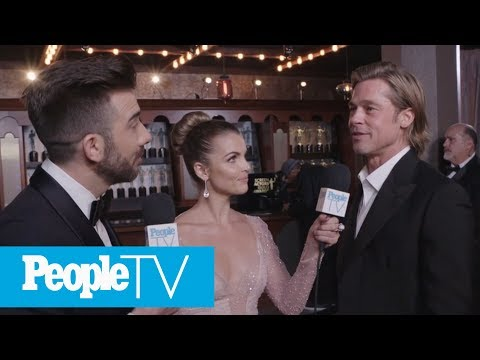 Brad Pitt: George Clooney Will 'Probably Send Roses' After SAG Win | PeopleTV | Entertainment Weekly