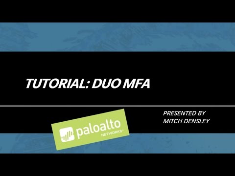Tutorial: DUO Multi-factor Authentication