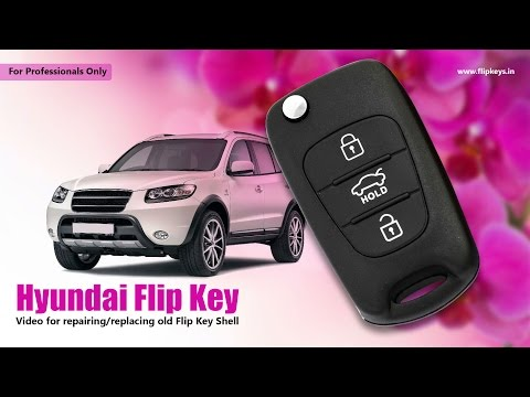 Hyundai Flip Key Shell Replacement