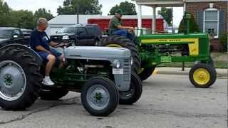 The Antique Tractor Slow Race in Arthur Illinois