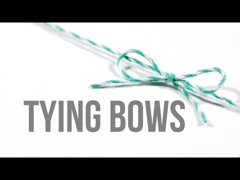 Tying Bows (How to tie bows perfectly)