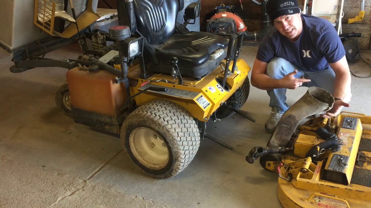How to remove and Install a Walker mower Deck (In 2 min or Less)