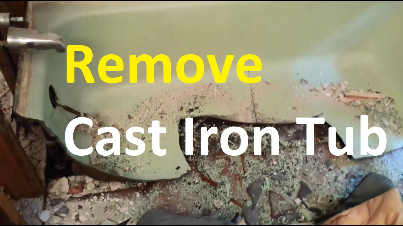 Beau How To Remove A Cast Iron Tub The Easy Way I Used   YouTube