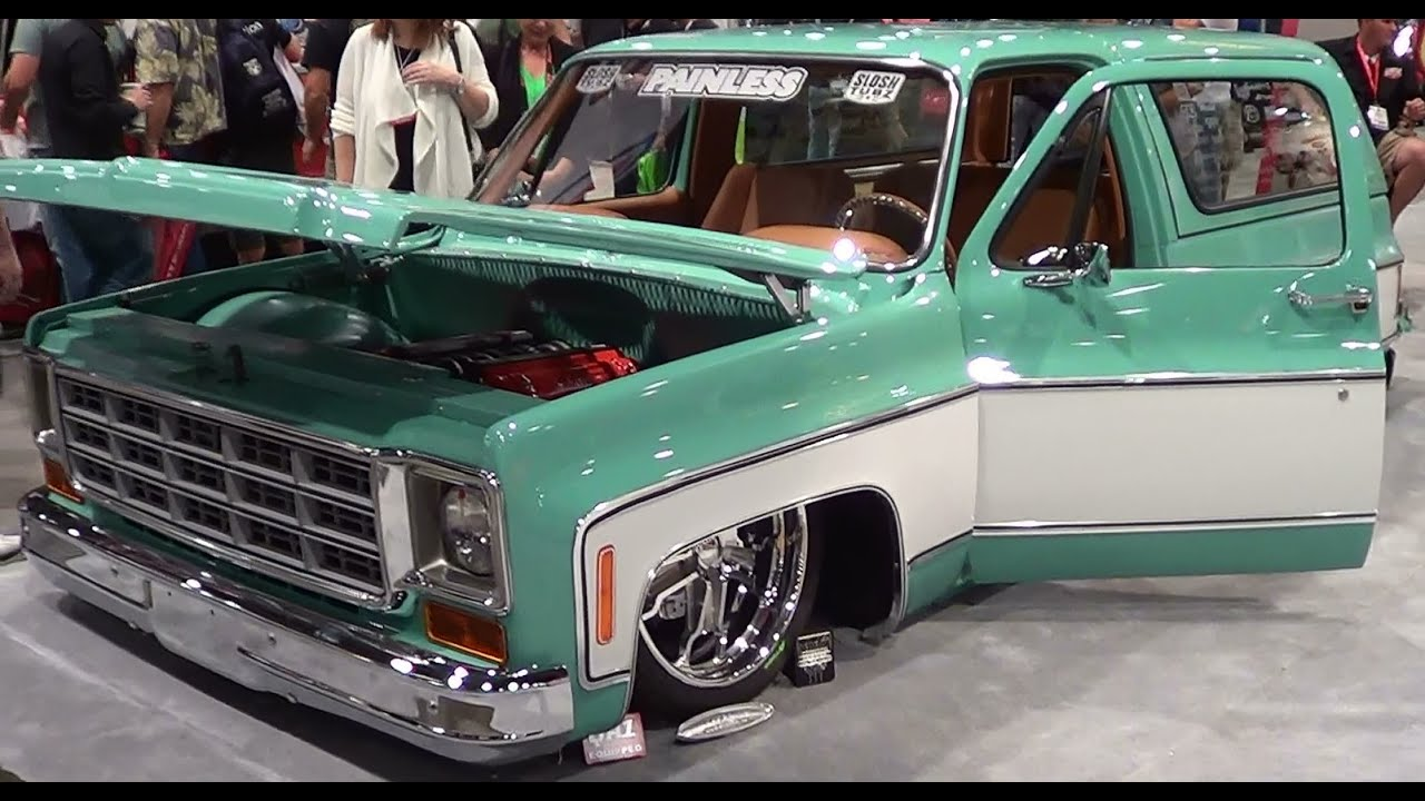 medium resolution of 1987 gmc jimmy slosh tubz square peg sema 2013