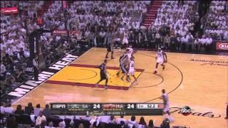 Shane Battier runs over Manu Ginóbili  | Game 6 NBA Finals 6.18.2013 | #nbafinals