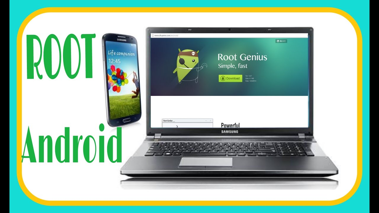 Root android with PC Root genius  2018
