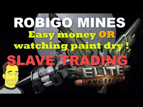 Elite Dangerous: ROBIGO MINES big Money to be made Rank UP! with slave Trading