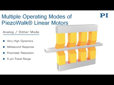 Operating Modes of High-Force Piezo-Walk Motor / Drive System, Nanometer  Precision