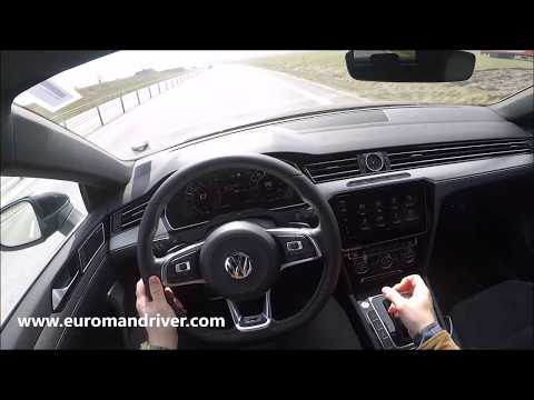 New Volkswagen Arteon 2019 R-Line Test Drive Review With EuromanDriver Autobahn