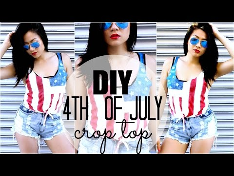 DIY: Fourth Of July American Flag Crop Top|Pinterest & Tumblr Inspired For An Easy Cute Outfit Idea!