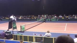 Djelić atmosfere sa teniskog meča Davis Cup-a teniskih reprezentaci...