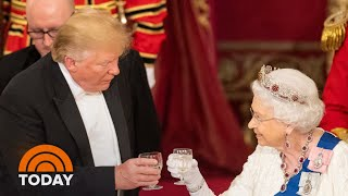 Inside The President Donald Trump Family's Lavish State Dinner With British Royals | TODAY