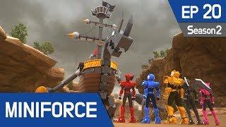 Miniforce Season2 EP20 Shaku, the Pirate King Pt  2 (English Ver)