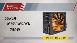 Скачать PC Garage Video Review Sursa NJoy Woden 750W 80 Gold