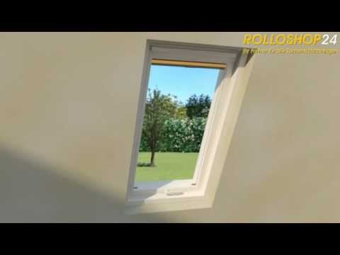 montage plissee f r dachfenster rolloshop24 youtube. Black Bedroom Furniture Sets. Home Design Ideas