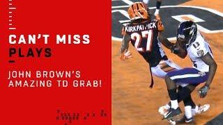 John Brown's AMAZING TD Grab Through a Defender!