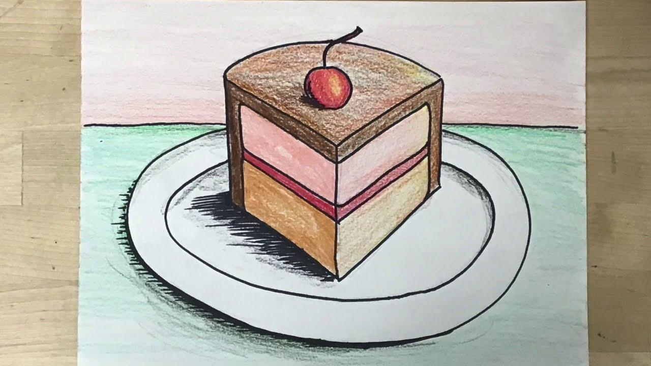 Kids Art Project - Wayne Thiebaud Inspired Food Still Life - YouTube