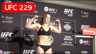 SCARY! ASPEN LADD STRUGGLES AT THE UFC 229 WEIGH-IN