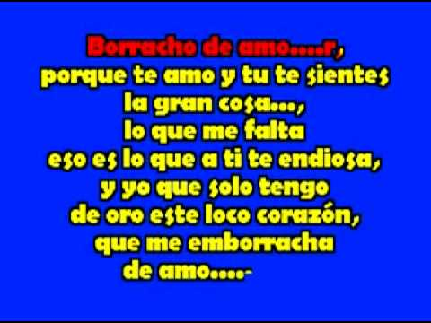 Banda La Trakalosa Borracho De Amor karaoke mpeg1video Videos De Viajes