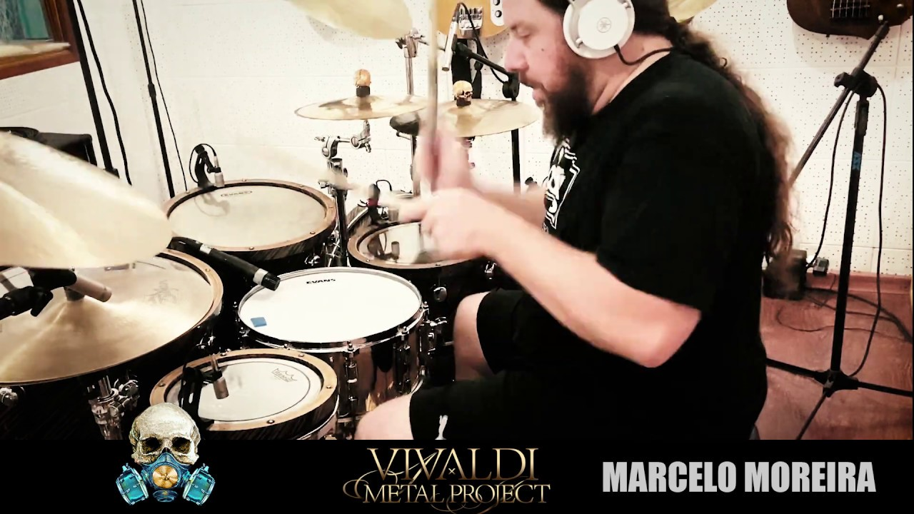 Drummer Marcelo Moreira greets and plays from the studio