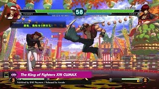 Arcade: The King of Fighters XIII CLIMAX (Taito Type X2)