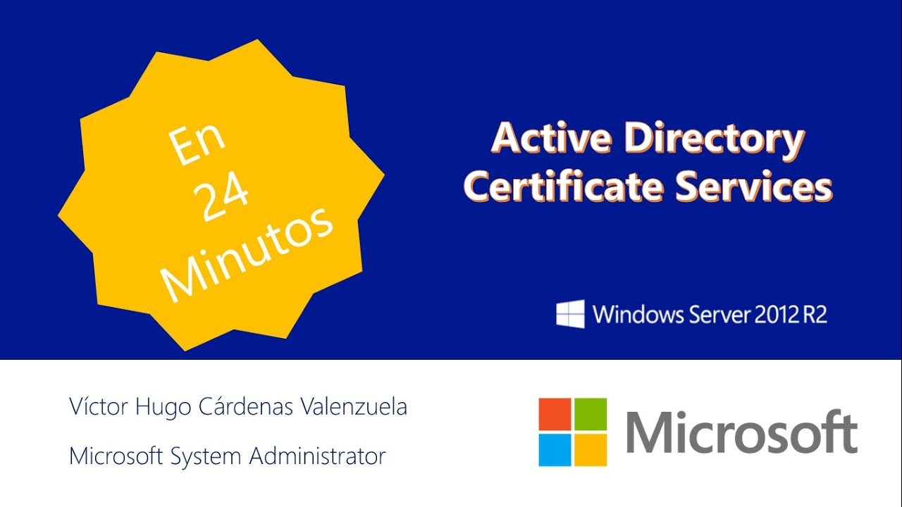 Active Directory Certificate Services Windows Server 2012 R2 Youtube