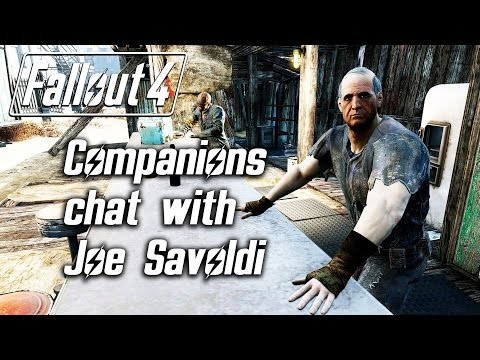 Fallout 4 - Companions Chat With Joe Savoldi, The Bartender Of Bunker Hill