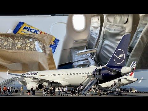 ECONOMY CLASS during CORONA   Lufthansa   A321   Heraklion - Frankfurt