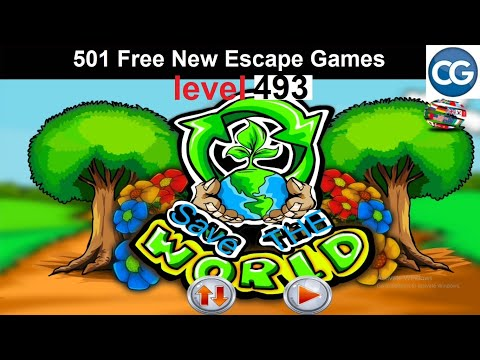 [Walkthrough] 501 Free New Escape Games Level 493 - Save The World - Complete Game