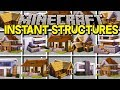 Minecraft INSTANT STRUCTURED MOD! | 300+ NEW INSTANT BUILDINGS, & MORE! | Modded Mini-Game