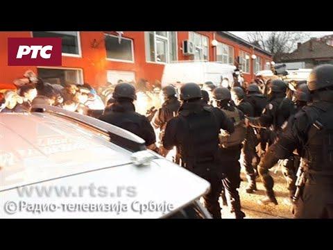 Napad kosovske policije na građane Kosovske Mitrovice