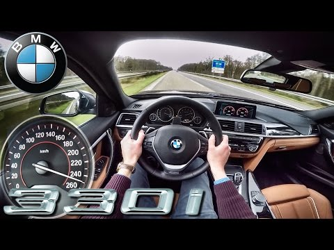 BMW 3 Series 2017 330i ACCELERATION & TOP SPEED POV Drive Autobahn by AutoTopNL