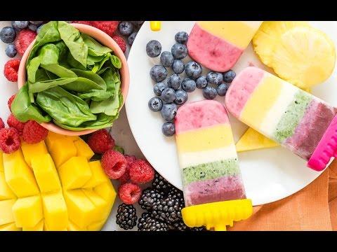 Rainbow Yogurt Popsicles - Healthy Snacks for Kids - Weelicious