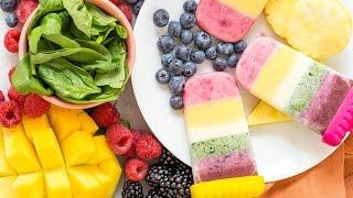 Rainbow Yogurt Popsicles