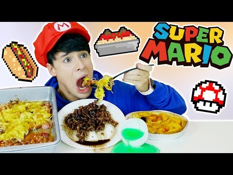 i only ate SUPER MARIO FOODS for 24 hours!!!