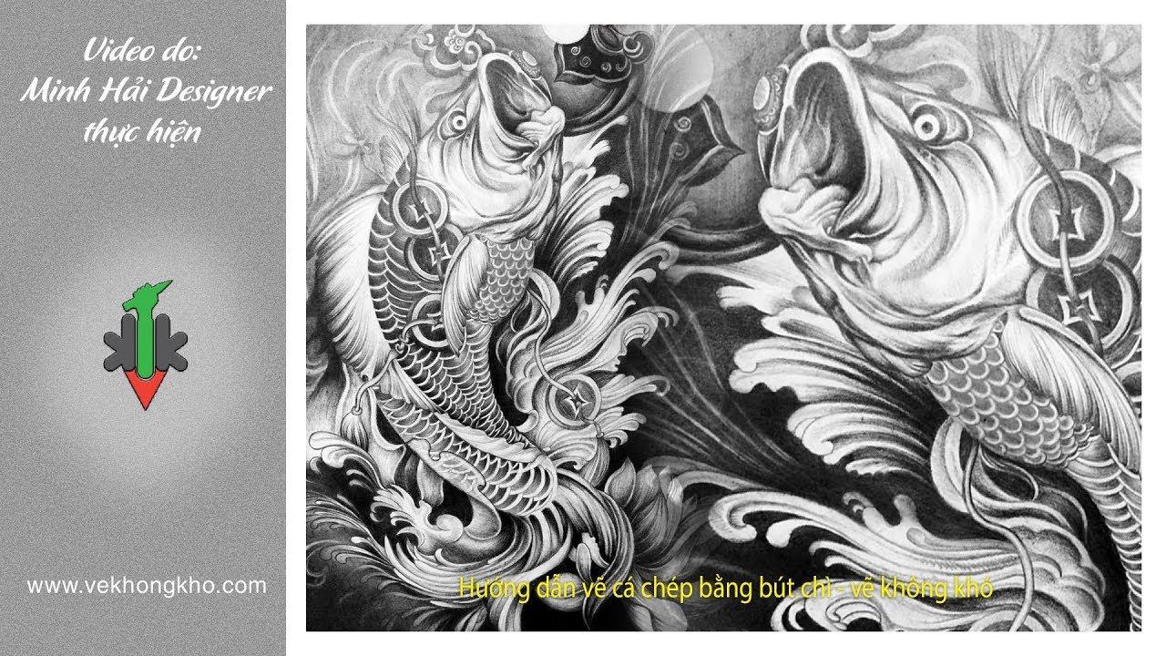 Hướng dẫn vẽ cá Chép bằng bút chì – vẽ không khó