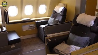 LUXURY FLIGHT: Lufthansa Business Class Airbus A340-600 Munich-Seoul! [AirClips full flight series]
