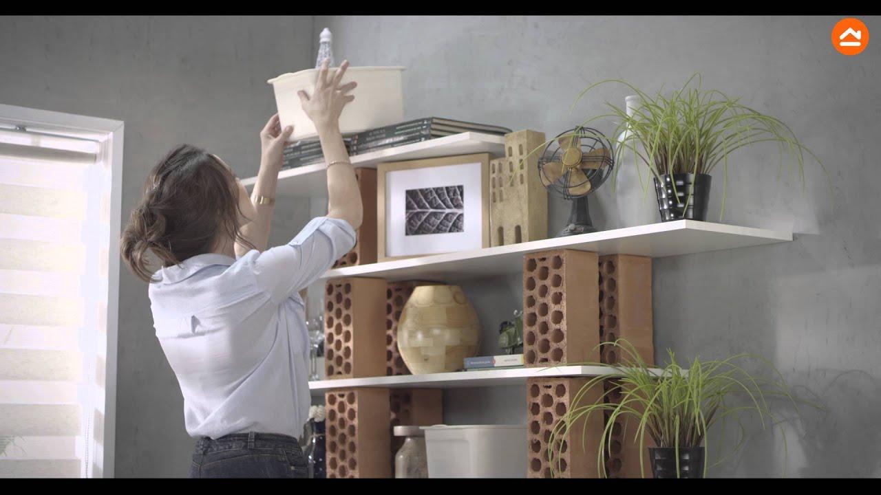 Crea tu propia estantera de ladrillos en casa  YouTube